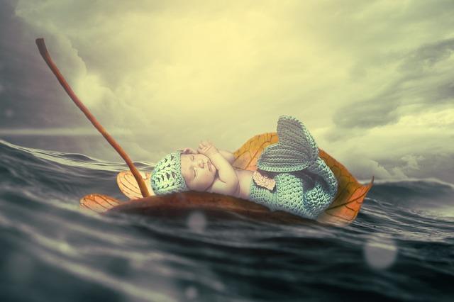 plaváček na listu
