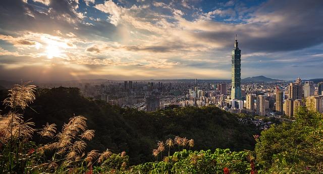 pohled na Tchaj-pej